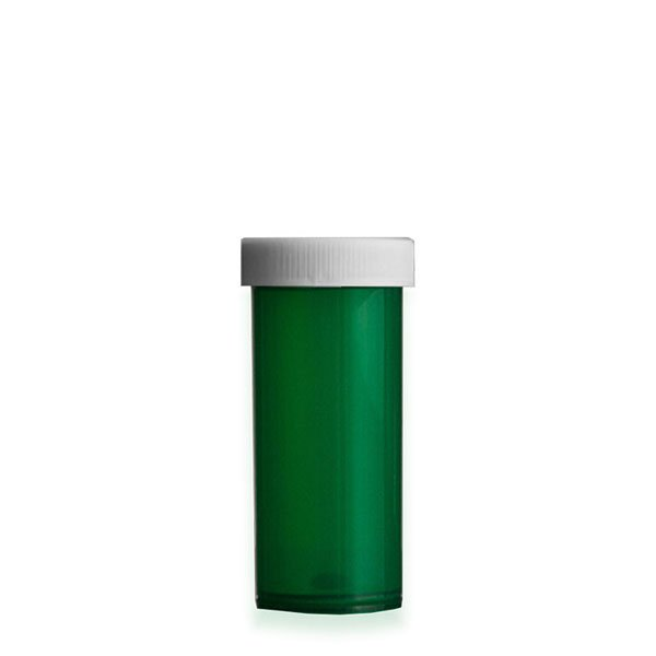 16 Dram Premium Pill Bottles with Child Resistant Caps, Green