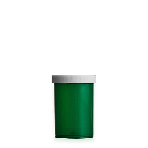 20 Dram Premium Pill Bottles with Child Resistant Caps, Green