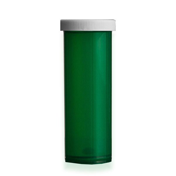 60 Dram Premium Pill Bottles with Child Resistant Caps, Green