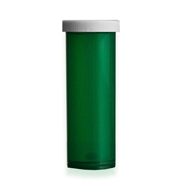 60 Dram Premium Pill Bottles with Child Resistant Caps, Green