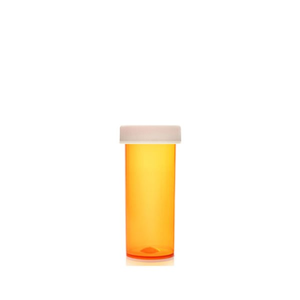 16 Dram ScriptPro Approved Vials with Child Resistant Caps, Amber