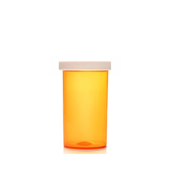 40 Dram ScriptPro Approved Vials with Child Resistant Caps, Amber