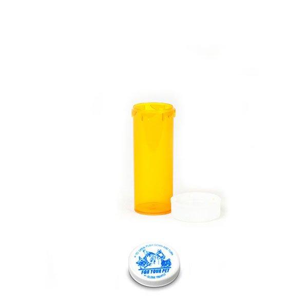 6 Dram Veterinary Prescription Vials with Child Resistant Caps, Amber