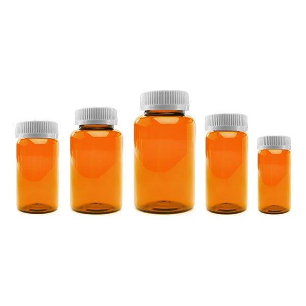 Prescription Vial Packer Pill Bottles: Amber Color