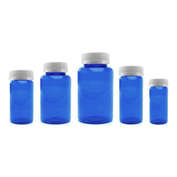 Prescription Vial Packer Pill Bottles: Blue Color