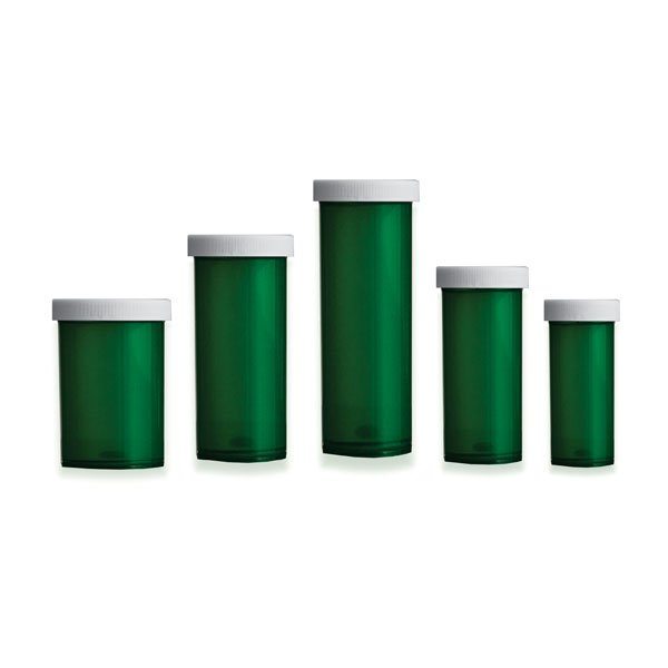 Green Premium Pill Bottles