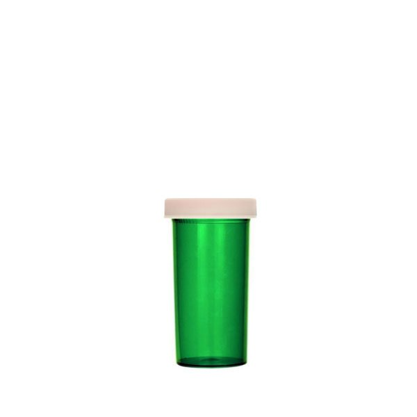 13 Dram ScriptPro Approved Vials with Child Resistant Caps, Green