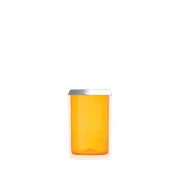 20 Dram Premium Pill Bottles with Snap Caps, Amber