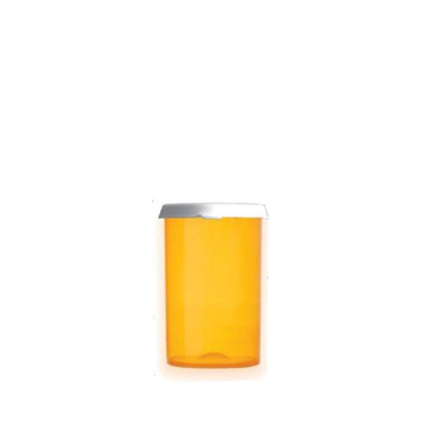 30 Dram Premium Pill Bottles with Snap Caps, Amber