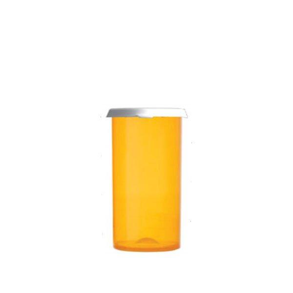 40 Dram Premium Pill Bottles with Snap Caps, Amber