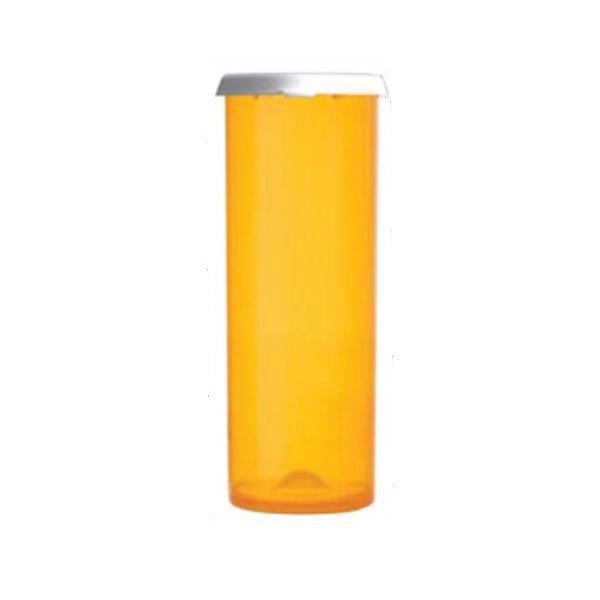 60 Dram Premium Pill Bottles with Snap Caps, Amber