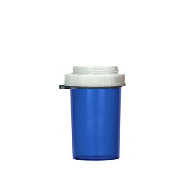 30 Dram Thumb Tab Vials with Reversible Dual Purpose Caps, Blue