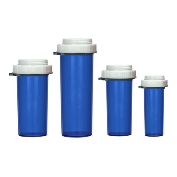 Blue Thumb Tab Pill Bottles